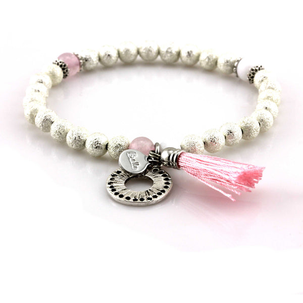 Balla Endless Love Tassel Bracelet with Silver Beads and Charm