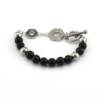 Infinitely Blessed Black and Silver Worry Free Bracelet