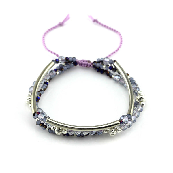 Mystic Purple and Silver Bracelet