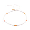Strength in Balance Equilibrium Anklet - White and Orange