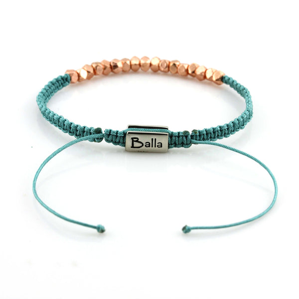 Balla Green Life Karma Bracelet with Rose Gold Beads