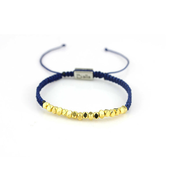 Balla Blue Love Karma Bracelet with Gold Plated Beads