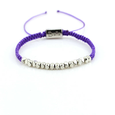 Balla Purple Joy Karma Bracelet with Silver Plated Beads