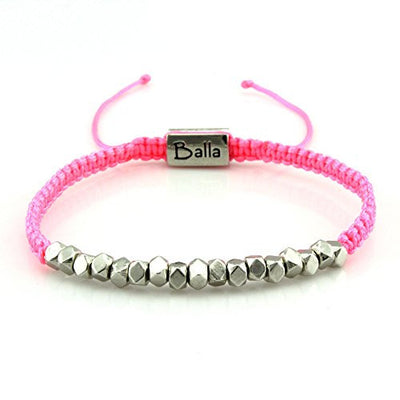 Balla Pink Hope Karma Bracelet with Silver Beads and Adjustable Fit