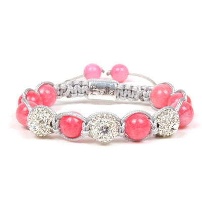Balla Strawberry Fields Bracelet Pink Quartz and Crystal Beads