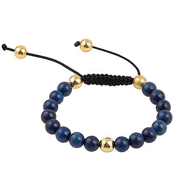 Balla Navy Blue and Gold Empowerment Bracelet with Adjustable Fit