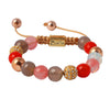 Balla Dusk In Paradise Stone Bracelet with Pink, Red and Crystal Beads