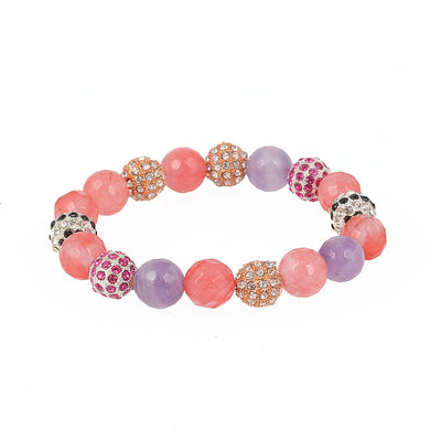 Balla Eternal Wonder Bracelet with Pink Purple and Crystal Beads