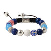 Balla Twilight Romace Bracelet with Blue, Silver and Crystal Beads