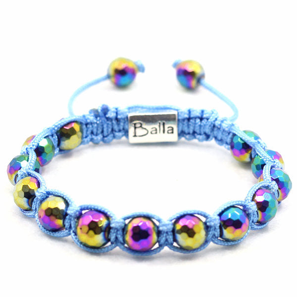 Balla Blue Illusion Bracelet with Iridescant Blue Beads