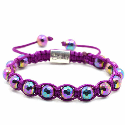 Balla Purple Illusion Bracelet with Iridescant Purple Beads