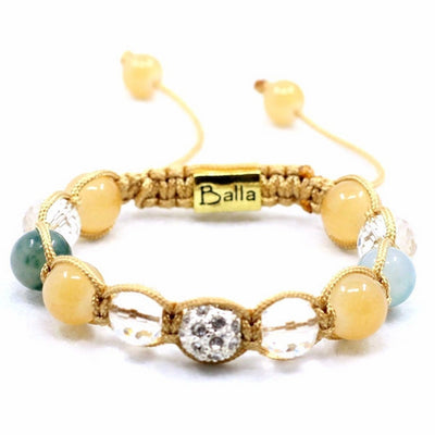 Balla Daydream Bracelet with Pastel Blue and White Crystal Beads