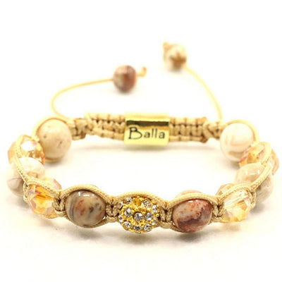 Balla Golden Sunrise Bracelet with Gold Bead and Jade Stones