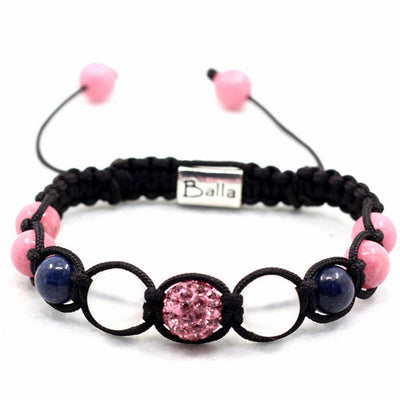 Balla Pink Nebula Bracelet with Purple and Pink Crystal Beads