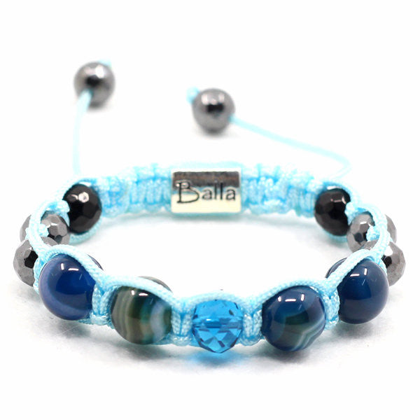Balla Revive Bracelet with Natural Stones and Blue and Silver Beads