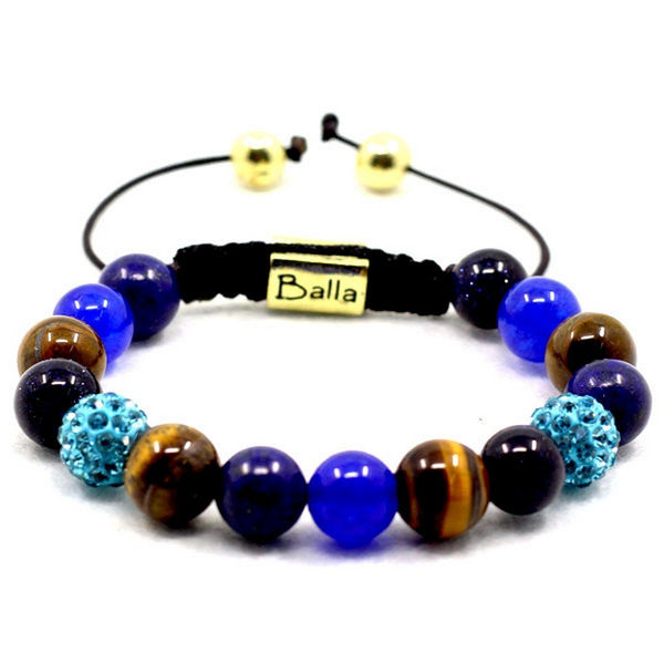 Balla Tranquil Seas Bracelet with Tiger Eye and Crystal Beads