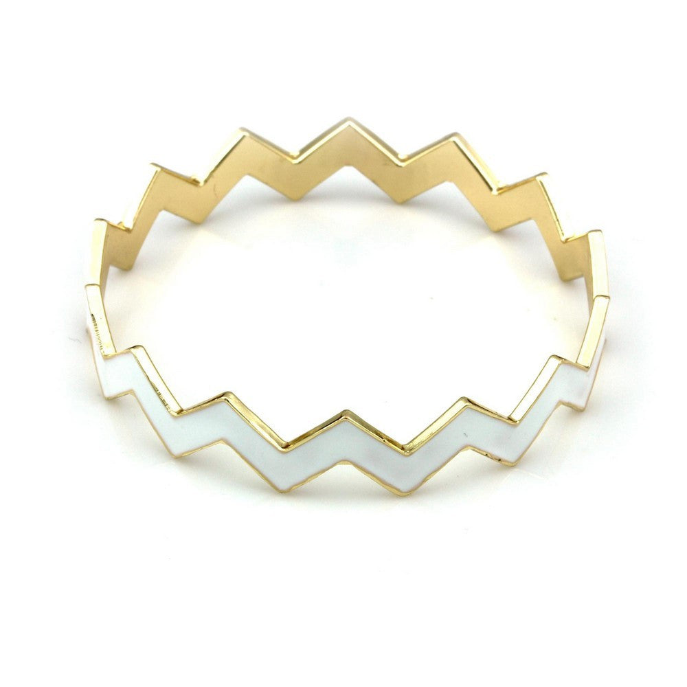 Balla Claire Bright White And Golden Stackable...