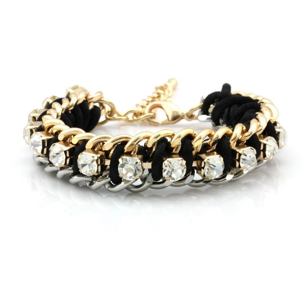 Balla Gold and Silver Maria Bracelet with Crystals