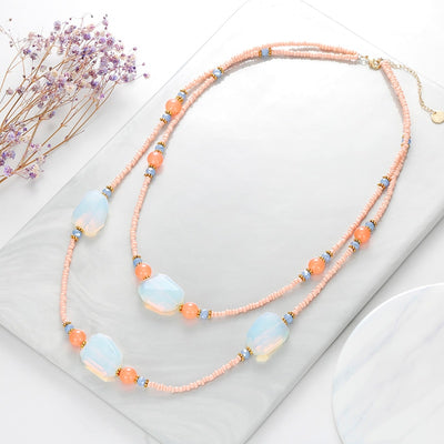 Moonstone Layered Necklace