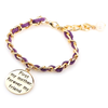 First My Mother Forever My Friend Hand Stamped Bracelet