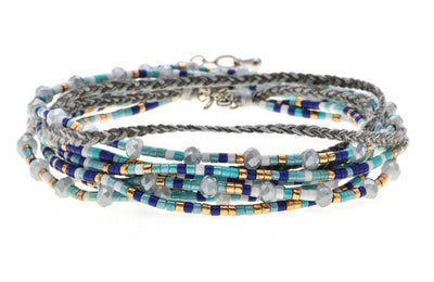 Cool Waters Layered Seed Bead Bracelet