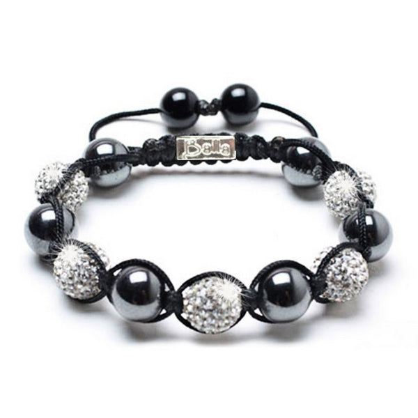 Smooth Magnetic Hematite Crystal Balla Bracelet with Adjustable Fit