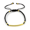 Balla Gold and Black Farrah Bracelet with Adjustable Fit