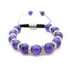 Strengthen Intuition Designer Balla Bracelet with Purple and Crystal Beads