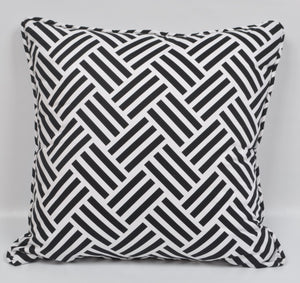 The Madison Collections: Parquet Black Pillow Cover