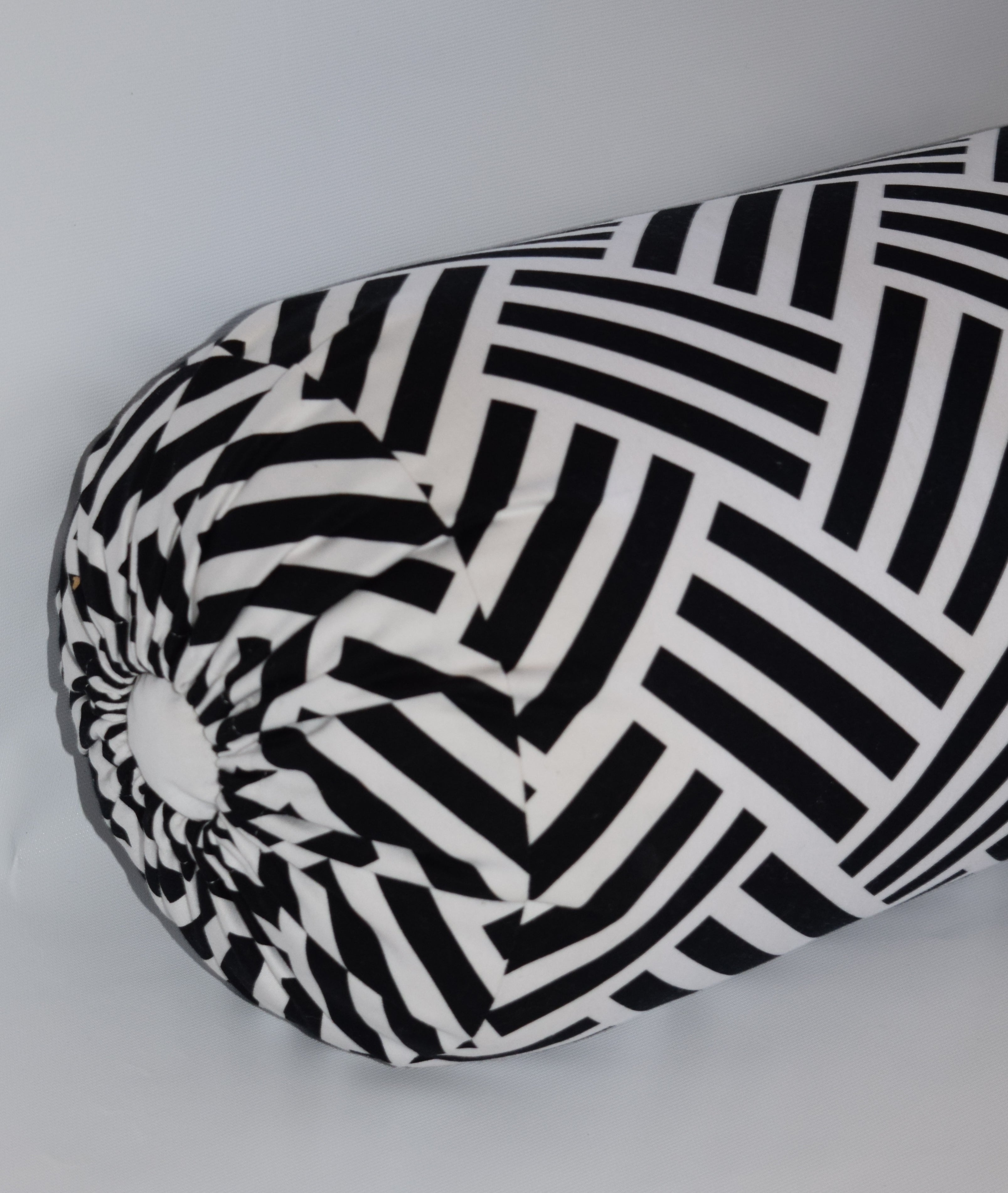 The Lilly Collections: Parquet Black Bolster Pillow Cover