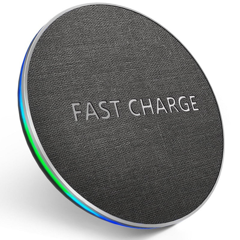 Fast 10W Qi Wireless Charger For iPhone X, XR, XS,MaX 8 & Samsung 8, S8 S9 Plus S7 S6 Edge