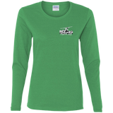 NEW Ladies' Cotton LS T-Shirt - Back Logo