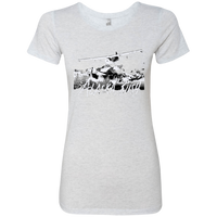 Premium Fitted Ladies' Triblend T-Shirt - Alaska Bush White Logo