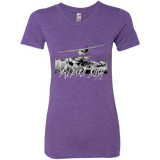 Premium Fitted Ladies' Triblend T-Shirt - Alaska Bush Grey Logo