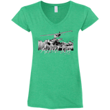 Premium Fitted Ladies' V Neck T-Shirt - Alaska Bush Grey Logo