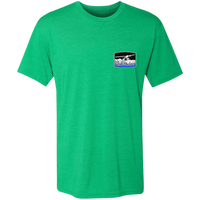 Premium Men's Triblend T-Shirt - Alaska Bush Front and back