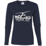 NEW Premium Ladies' Cotton LS T-Shirt - Alaska Bush White