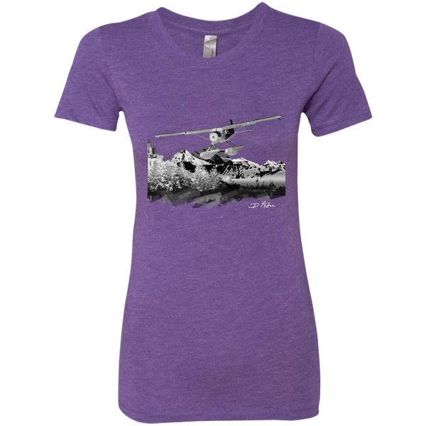 Premium Fitted Ladies' Triblend T-Shirt - Beaver Grey Logo