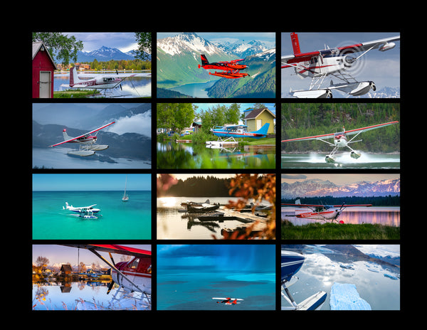 2021 Seaplane Photo Wall Calendar - Alaska and Caribbean