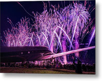 Oshkosh 2018 Dc3 Fireworks - Purple - Metal Print