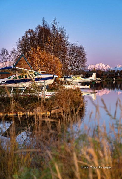 Seaplane At Sunset - Art Print