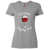 "Ladies Classic Tees ""It's Wine Sipping Time"""