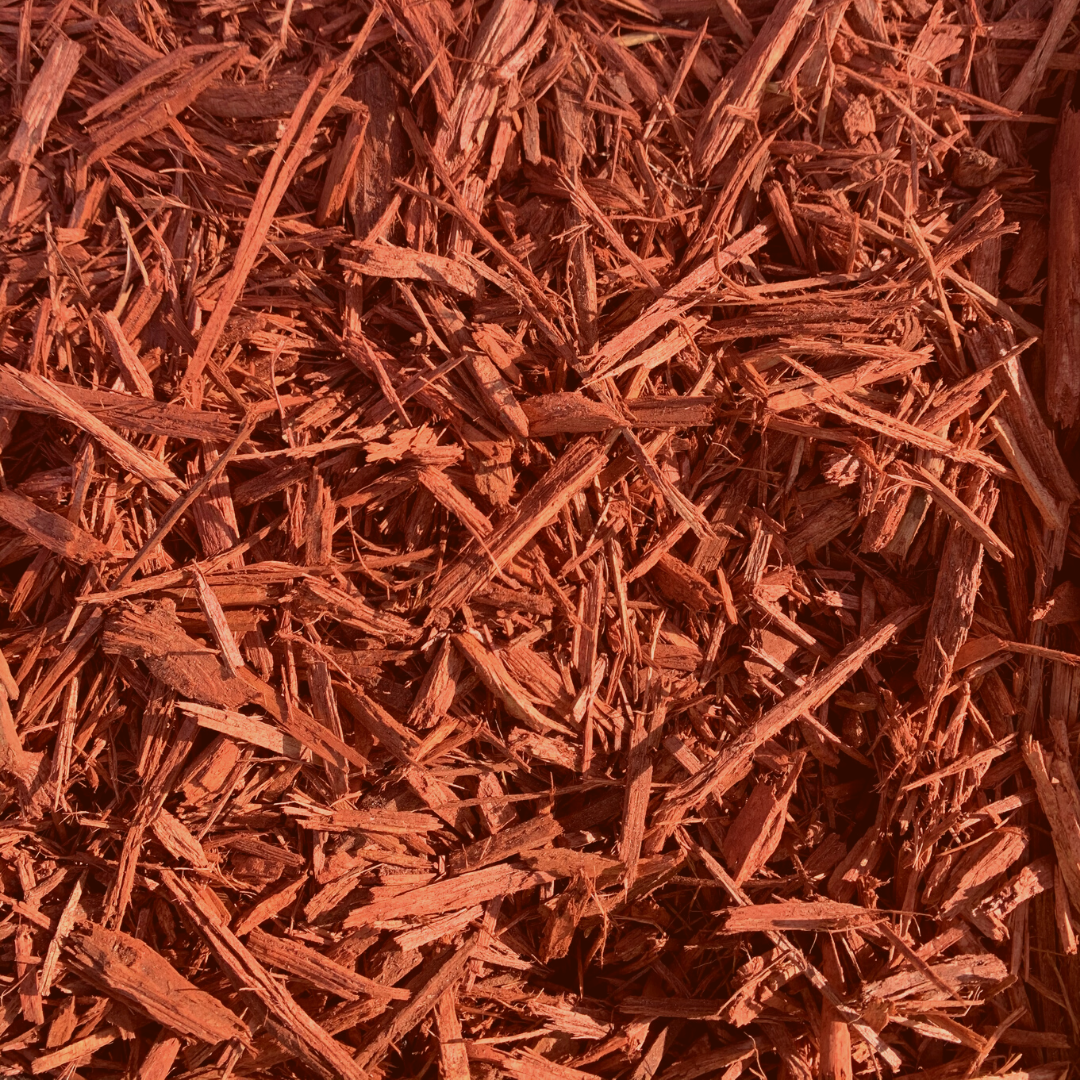 Brick Red Shredded Mulch
