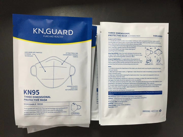 KN.GUARD KN95 Protective Coronavirus Mask Factory Outlet, MOQ is 3000pcs,Not including freight
