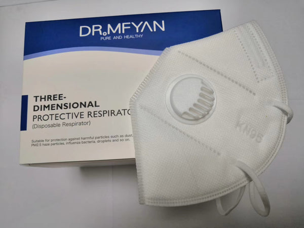 Dr.Mfyan KN95 Protective Mask With Valve Factory Outlet, MOQ is 1000 pcs,Not Including Freight