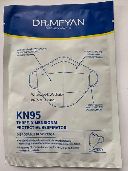 Dr.Mfyan KN95 Protective Coronavirus Mask Factory Outlet, MOQ is 600pcs/carton,not including freight