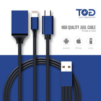 3 IN 1 USB CHARGING CABLES FOR JUUL - 32 INCH, MOQ is 500