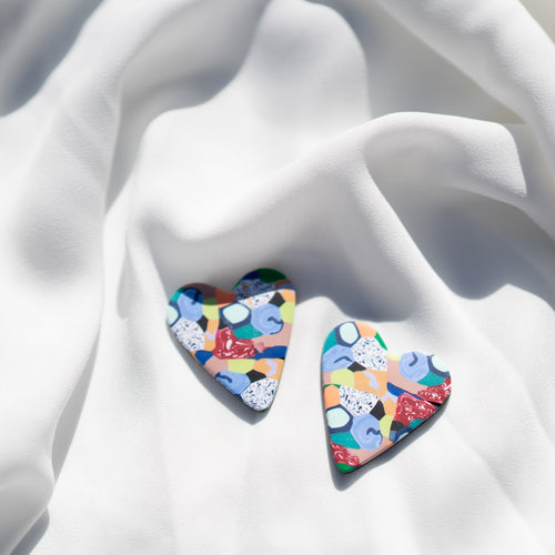 The Cobalt Collection - Love Heart Stud