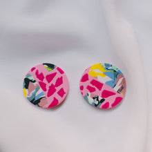 Load image into Gallery viewer, Pink Sherbert - Small Round Stud