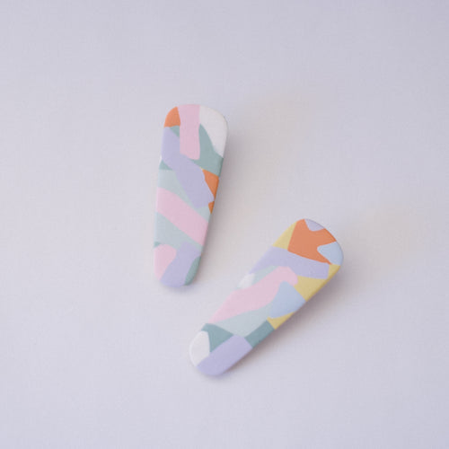 Hair Clips - Pastel Pastel - Small